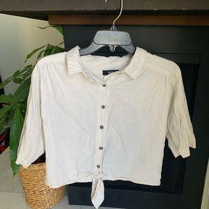 Cream crop shirt